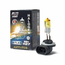 Галогенная лампа AVS ATLAS ANTI-FOG BOX желтый H27/881 12V.27W (коробка-1шт.)