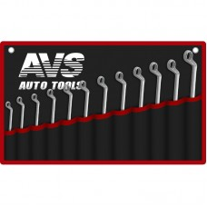 Набор ключей гаечных накидных изогнутых в сумке (6-32 мм) (12 предметов) AVS K2N12M