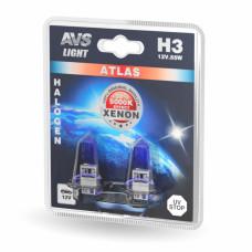 Лампа галогенная AVS ATLAS /5000К/ H3.24V.70W (блистер, 2 шт.)