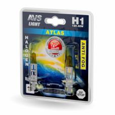 Лампа галогенная AVS ATLAS ANTI-FOG / желтый H1.12V.55W (блистер, 2 шт.)